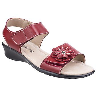 Fleet & Foster Womens Sapphire Touch Fixation Sandale Rouge