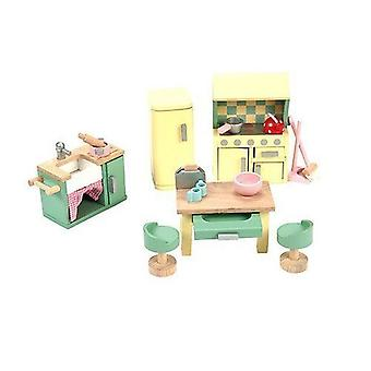 Le Toy Van Daisylane Wooden Doll's House Furniture - Kitchen Set