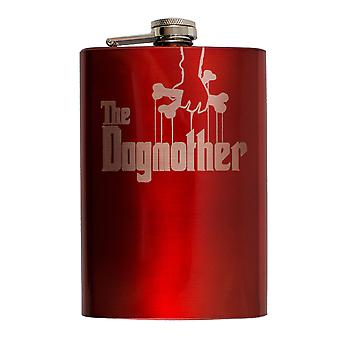 8oz red the dogmother flask l1