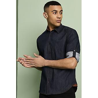 Simon Jersey Men's Denim Shirt - Blue Denim