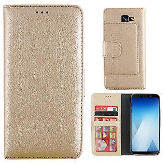 Samsung A8 2018 ja Duos ja A5 2018 Case Gold - Lompakkokotelo