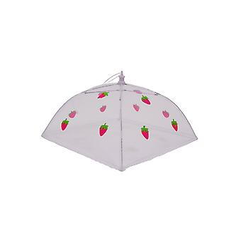 Epicurean Square 30cm Food Umbrella, Strawberry