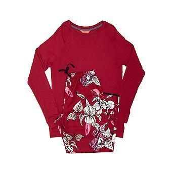 Minijammies 5517 Girl's Alice Burgundy Red Mix Floral Modal Pyjama Set