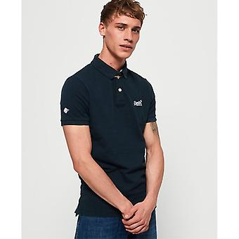 Superdry Classic Pique Polo-Eclipse Navy
