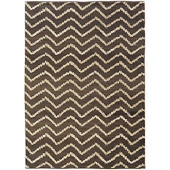 Marrakesh 5993d brown/ivory indoor area rug rectangle 6'7