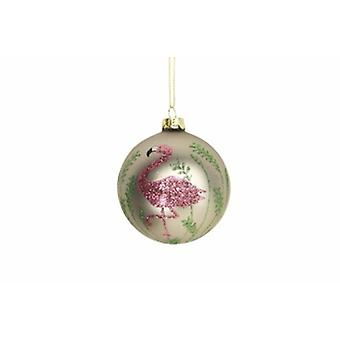 Gisela Graham Gold Bauble with Flamingo | Gifts From Handpicked
