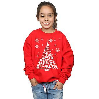 Star Wars Mädchen Weihnachtsbaum Sweatshirt