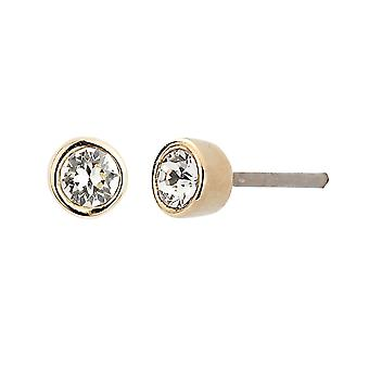 Traveller pierced earring - 22ct gold plated - Swarovski Crystal - 145596