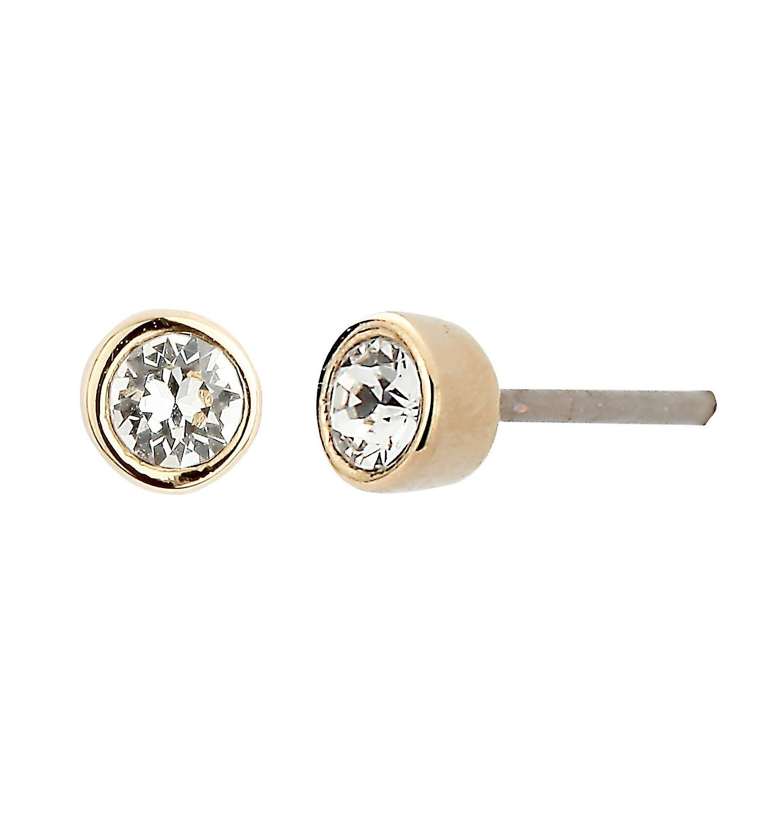 Traveller pierced earring - 22ct gold plated - Swarovski Crystal - 145596