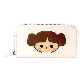 Star Wars Purse princess leia Kawaii Logo new Official Zip Around White