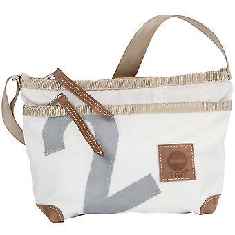 360deg Deern Lütt white canvas bag with number grey shoulder bag