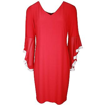 Frank Lyman Red Diamante Bell Sleeve Cocktail Dress