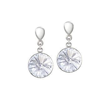 Ewige Sammlung Rivoli klar österreichischen Kristall Silber Ton Drop Schraube zurück Clip auf Ohrringe