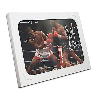Nigel Benn And Chris Eubank Dual Signed Boxing Photo In Gift Box