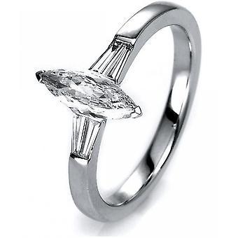 Diamond Ring Ring-18K 750 witgoud-0,67 CT.