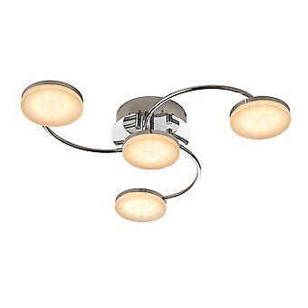 Endon Helsinki LED 4 lys semi flush krom, matteret akryl 75174