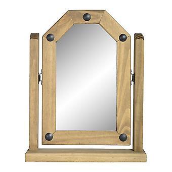 Corona Single Swivel Mirror Distressed Waxed Pine
