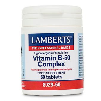 Lamberts vitamin B-50 komplexa tabletter 60 (8029-60)