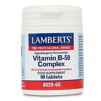 LAMBERTS B-50-vitamiini kompleksi tabletit 60 (8029-60)