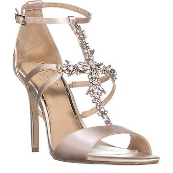 BADGLEY MISCHKA Womens Jewel Badgley Mischka Galvin Open Toe Special Occasion T-Strap Sandals