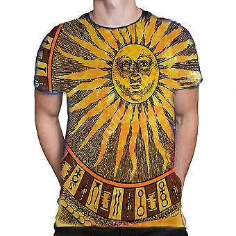 Liquid blue - sun and moon - tie dyed t-shirt