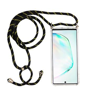 Phone Chain for Samsung Galaxy Note 10 Plus - Smartphone Necklace Case with Band - Cord with Case to Hang In Black
