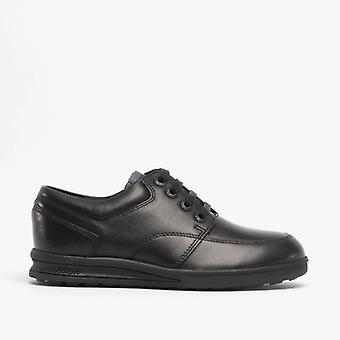 Kickers Troiko Lace Boys Leather Shoes Black