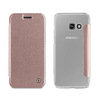 Case For Samsung Galaxy A3 (2017) Folio Rose Gold