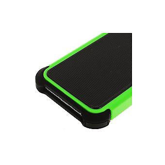 Black And Green Ultra Resistant Plastic Hull For IPhone 5