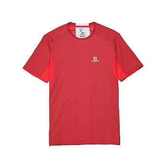 T-shirt de running Salomon Trail Runner S Tee Rouge