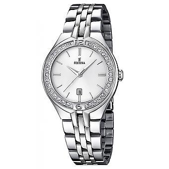 Festina F16867-1 Donne's Mademoiselle Silver Tone Wristwatch