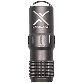 Exotac MATCHCAP XL Waterproof Match and Striker Case - Gunmetal