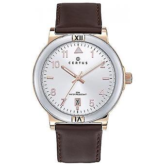 Assista Certus 611248 - Steel Leather Bracelet Brown Men