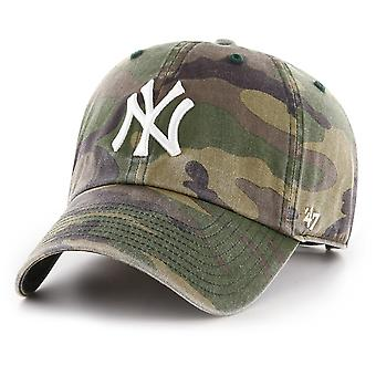 47 fire relaxed fit Cap - WASHED New York Yankees wood camo