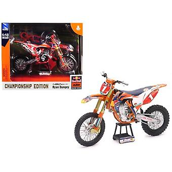 KTM 450 SX-F #1 Ryan Dungey Red Bull Factory Racing Championship Edition 1/10 Diecast Motorcycle Model by New Ray