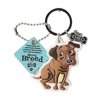Wags & Whiskers Keyring - Mixed Breed