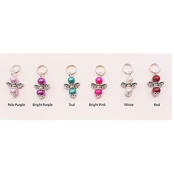 Handmade Mini Guardian Angel on split ring various colours by Nyleve Designs