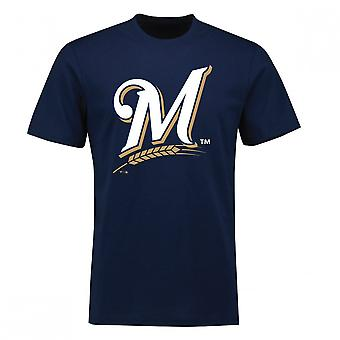 Fantasierna MLB Milwaukee Brewers primär logo typ T-shirt