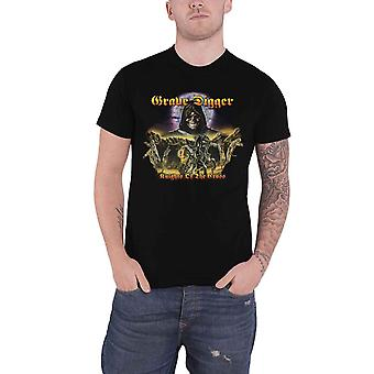 Grave Digger T Shirt Knights Of The Cross Band Logo nouveau officiel Mens Black