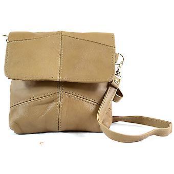 Ladies Leather Handy Cross Body / Shoulder Bag / Purse with Detachable Strap - Black