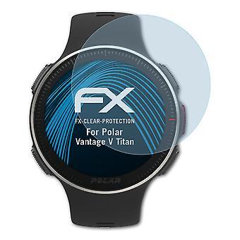 atFoliX Glass Protector compatible with Polar Vantage V Titan Glass Protective Film 9H Hybrid-Glass
