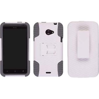 Ventev Skin-Snap Combo Holster pour HTC Evo 4G LTE - Gris/Blanc
