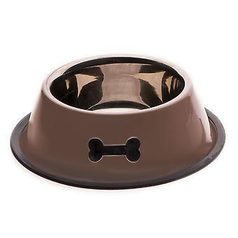 Ferribiella Schwere Inox-Schüssel W. Gummi (Hunde , Futter- und Wassernäpfe)