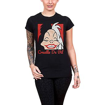 Disney T paita Cruella de vil uusi virallinen naisten laiha sovi musta