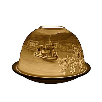 Light Glow Dome Tea Light Holder, Lake District