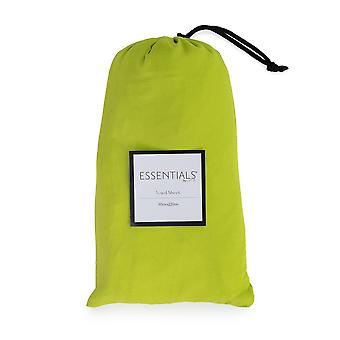 Loft 25 Essentials Sleeping Bag Liner | Camping Travel Sheet | Pillow Pocket | Hotel Business Holiday Use | Microfibre | Reusable and Lightweight (Lime)