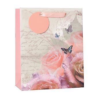 Simon Elvin Floral Glitter Gift Bags (Pack Of 6)