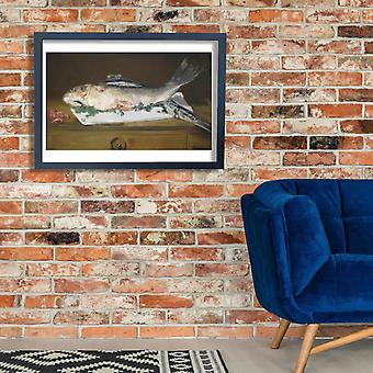 Edouard Manet - Still-life Salmon Pike and Shrimps Poster Print Giclee