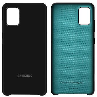 Original silicone cover for Samsung Galaxy 51 Soft Touch Black