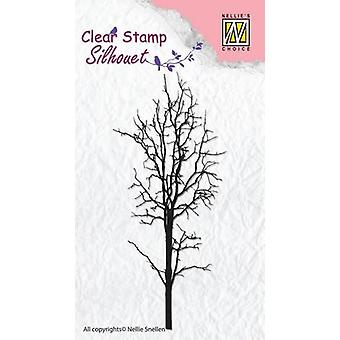 Nellie's Choice Clearstamp - Silhouette tree-1 SIL007